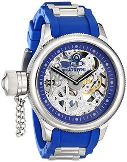 Invicta Men's 1089 Russian Diver Skeleton Watch With Blue Po