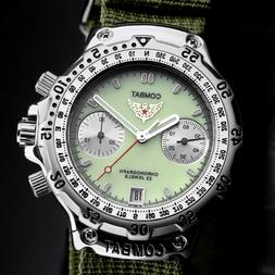 Poljot 3133 Combat Mechanical Chronograph Russian Watch Lumi