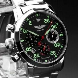 Pilot Berkut Chronograph Poljot 31681 Russian Analog Watch S