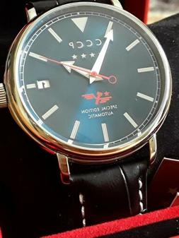 CCCP BLUE DIAL AUTOMATIC RUSSIAN WATCH 43mm 50M SPECIAL EDIT