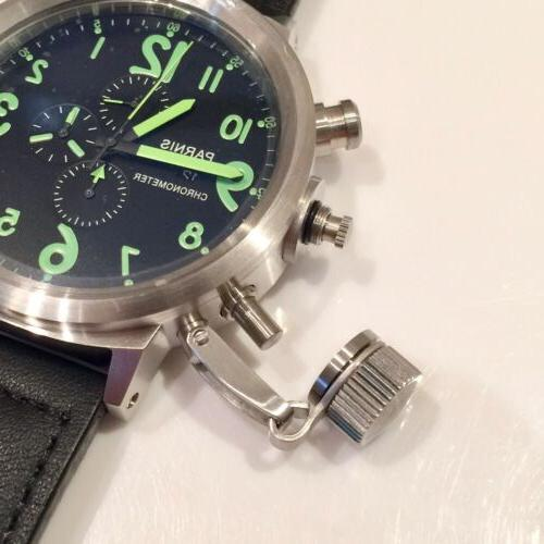 Parnis Military Chronograph Russian Canteen