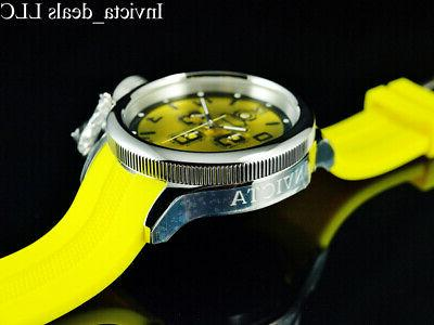 Invicta Men's 52mm RUSSIAN DIVER Chrono YELLOW DIAL Tone SS Watch