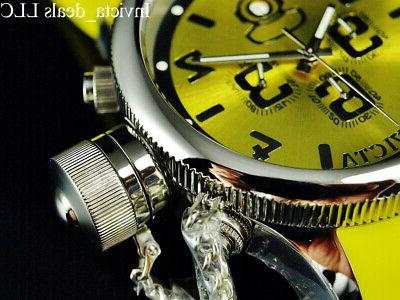 Invicta Men's 52mm RUSSIAN DIVER DIAL Yellow Tone Watch