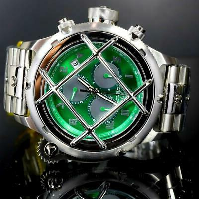 Invicta Caged Mvt Green 52mm New