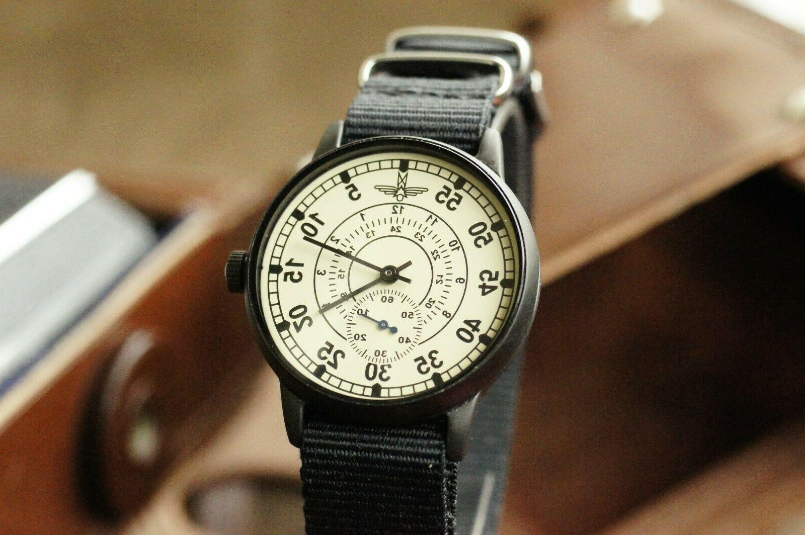 Watch Wings Pilot Mechanical Men's Vintage MILITARY