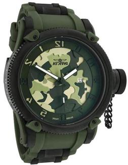 New Mens Invicta 1197 Swiss Made Russian Diver Green Army Ca