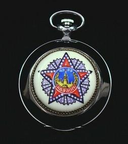 pocket russian watch molnija with hand painted