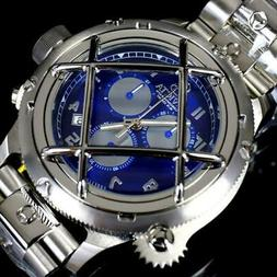 Invicta Russian Diver Nautilus Caged Swiss Mvt Steel Blue 52