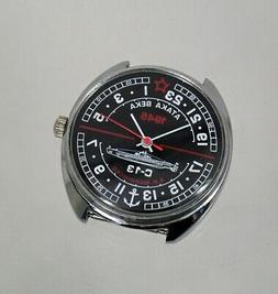 Russian Mechanical watch 24 hr dial  ARCTIC, Soviet station