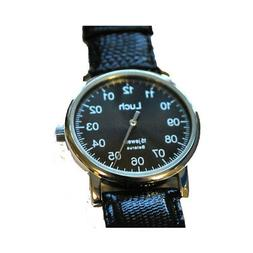 Unique Authentic Russian Black Face Wind up Watch Luch with